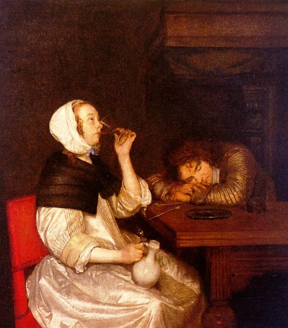 woman_drinking_with_a_sleeping_soldier-large