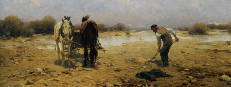 Wierusz_Kowalski_Alfred_Von_The_Sand_Digger_Oil_on_Panel-large