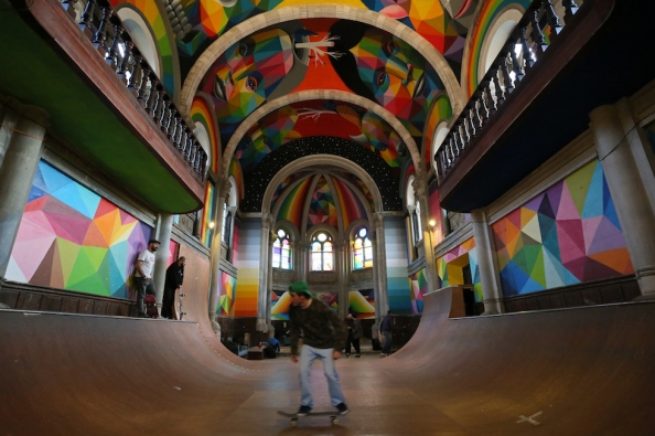 La chiesa dove si fa skateboard
